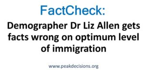 FactCheck: Demographer Dr Liz Allen gets facts wrong on optimum level of immigration